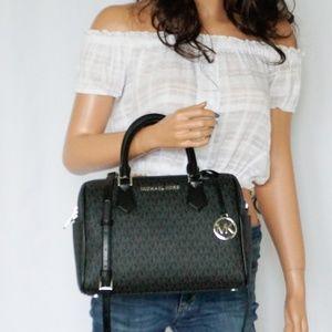 Michael Kors Bedford Duffle PVC Leather Bag MK Blk